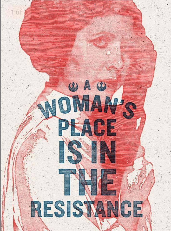 A Woman's Place Is In The Resistance Poster.