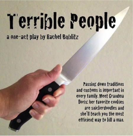 Postcard for TERRIBLE PEOPLE.